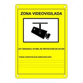 Placa de plastico Zona de Vigilancia AC-CARTEL-ES