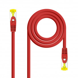 Cable Red Latiguillo RJ45 SFTP Cat6a LSZH CU AWG26 0,5m ROJO