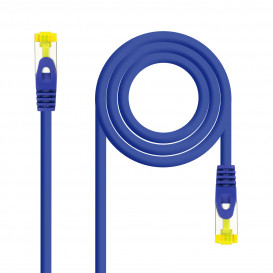 Cable Red Latiguillo RJ45 SFTP Cat6a LSZH CU AWG26 0,5m AZUL