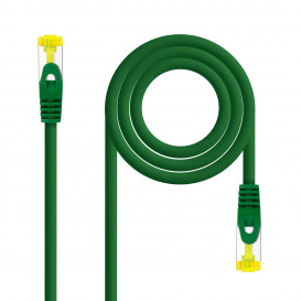 Cable Red Latiguillo RJ45 SFTP Cat6a LSZH CU AWG26 0,5m VERDE