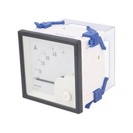 Amperimetro Analogico de Panel CA. de 0 a 40A/80A