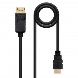 Cable DisplayPort a HDMI NEGRO 2m