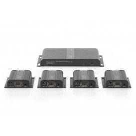 Pack 4x1 Extensores HDMI por Cable Ethernet Cat6 Cat6a Cat7 hasta 50m