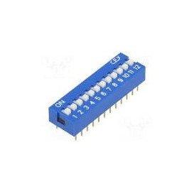 Microinterruptor DIP SWITCH de 12 Interruptores ON-OFF