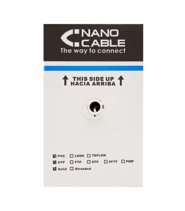 Bobina Cable FTP Cat6 Rigido CU Apantallado 305m