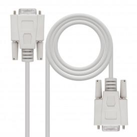 Cable D-Sub DB9 Hembra a DB9 Hembra CRUZADO 1,8m
