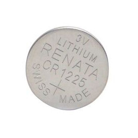 Pila Litio CR1225 RENATA 3V 48mA medidas 2,5x12,5mm