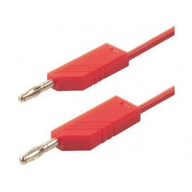 Cable de Prueba con Bananas 4mm 1m color ROJO 16A/60Vdc