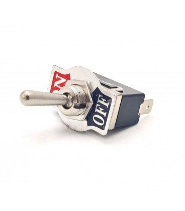Interruptor Palanca Unipolar ON-OFF terminales faston 6,3mm