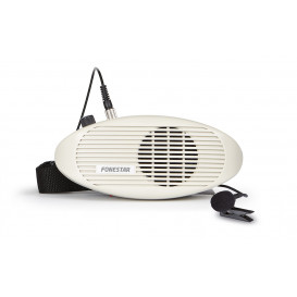 Amplificador portatil para cintura con microfono de solapa. Funcion de recarga