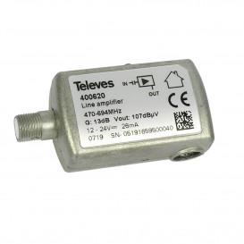Amplificador de linea UHF 13dB 470-694Mhz C48 F