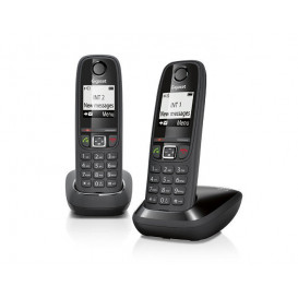 Telefonos Inalambricos DUO AS405 GIGASET NEGRO