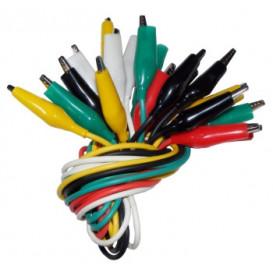 Juego 10 cables de colores con pinzas cocodrilo C-6091