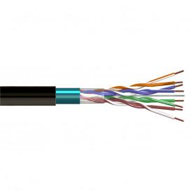 Bobina 305m Cable FTP CCA Cat6 Rigido Apantallado EXTERIOR NEGRO