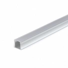 Perfil Aluminio Superficie LED Difusor Opaco BLANCO 17x15x2000cm
