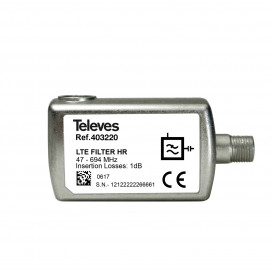Filtro LTE700 5G Enchufable Conector F 65dB C21-48 47-694MHz