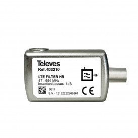 Filtro LTE700 5G Enchufable Conector CEI 65dB C21-48 47-694MHz