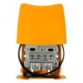 Amplificador Mastil 28dB 3e UHF-UHF-VHFmix LTE790 NanoKom