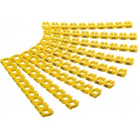 Marcador Cable 6mm Numericos del 0-9