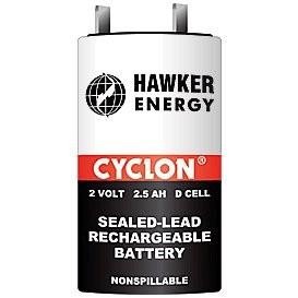 Bateria PLOMO 2Vdc 2,5Ah CYCLON 34x60mm