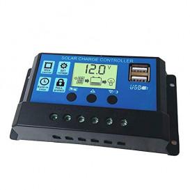 Regulador de Carga para Panel Solar 20Amp 12/24Vdc