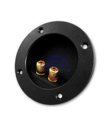 Conector Base Presion Altavoz Dorado