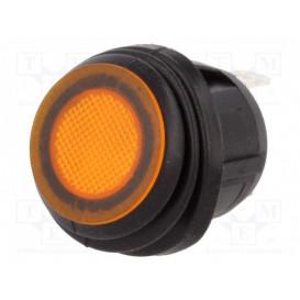 Interruptor Basculante 2 Ctos 10A/250Vac IP65 Luminoso Naranja