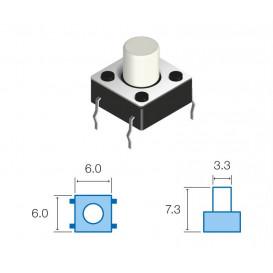Pulsador Tacto 6x6mm Alto 7,3mm B3F-1050