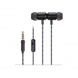 Auricular con Microfono Miniatura Magnetico Negro