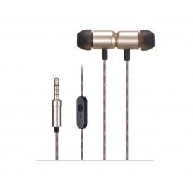 Auriculares In Ear con Microfono con Jack 3,5mm 4Cortes DORADO