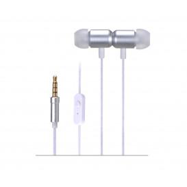 Auriculares In Ear con Microfono con Jack 3,5mm 4Cortes GRIS