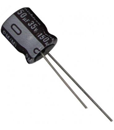 Condensador Electrolitico 150uF 35Vdc medidas 8x11mm Radial