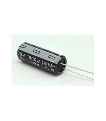 Condensador Electrolitico 1800uF 6,3Vdc Medidas 10x17mm Radial