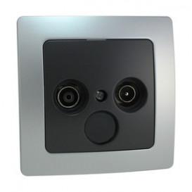 Base Antena Empotrar TV + Radio PLATA/GRIS