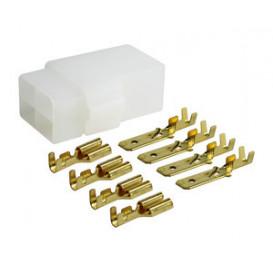 Caja de conexion 4 terminales polarizada Terminales faston M y H de 6,35mm