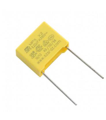 Condensador Polipropileno 220nF 310Vac X2  Raster 15mm