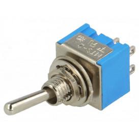 Interruptor Conmutador de Palanca 2Ctos 3A/250Vac ON-ON