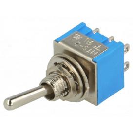 Interruptor Conmutador de Palanca 2Ctos 3A/250V ON-ON
