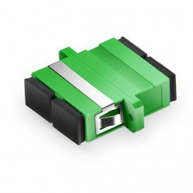 Adaptador Pasamuros Fibra Optica SC/APC DUPLEX