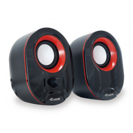 Altavoces Multimedia 2.0 USB Life Mini 6Wrms c/Volumen NEGRO/ROJO