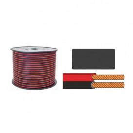Cable Paralelo 2x0,50mm ROJO/NEGRO Polarizado (Bobina de 100 metros)
