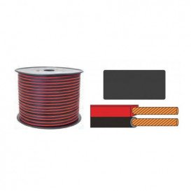 Bobina 100m Cable Paralelo 2x0,75mm ROJO/NEGRO CCA