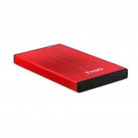 Caja Externa Disco Duro 2,5 SATA USB 3.0 ROJA