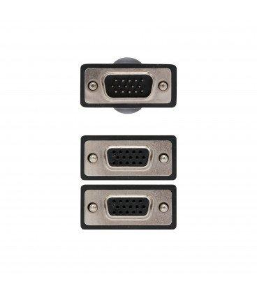 Cable VGA a 2 VGA Duplicador 0,45cm NANOCABLE