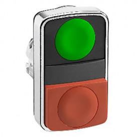 Interruptor Doble pulsadores ROJO/VERDE SCHNEIDER (solo la Cabeza)