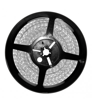 Tira LED 5mts 12V 24W IP65 AZUL 60LED/m 3528