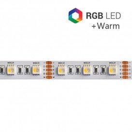 Tira LED 24V 19,2W/m SMD5050 60LED/m RGB+3000K IP20 5m