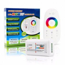Controlador RGBW 12-24Vdc 10Amp max 2,4Ghz con Mando