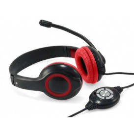Auriculares Diadema con Microfono y USB POLONA
