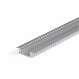 Perfil Aluminio Empotrar LED Difusor Transparente 17x7x2000cm CC-31